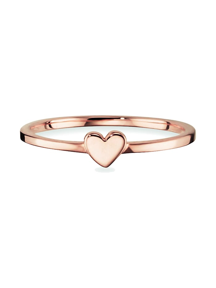 CAI Ring 925/- Sterling Silber ohne Stein rotvergoldet 925/- Sterling Silber, rot