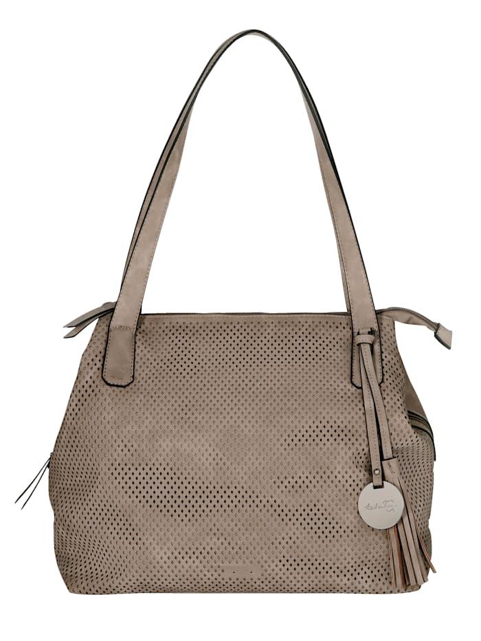 Taschenherz Handbag with cutout detailing, Sand