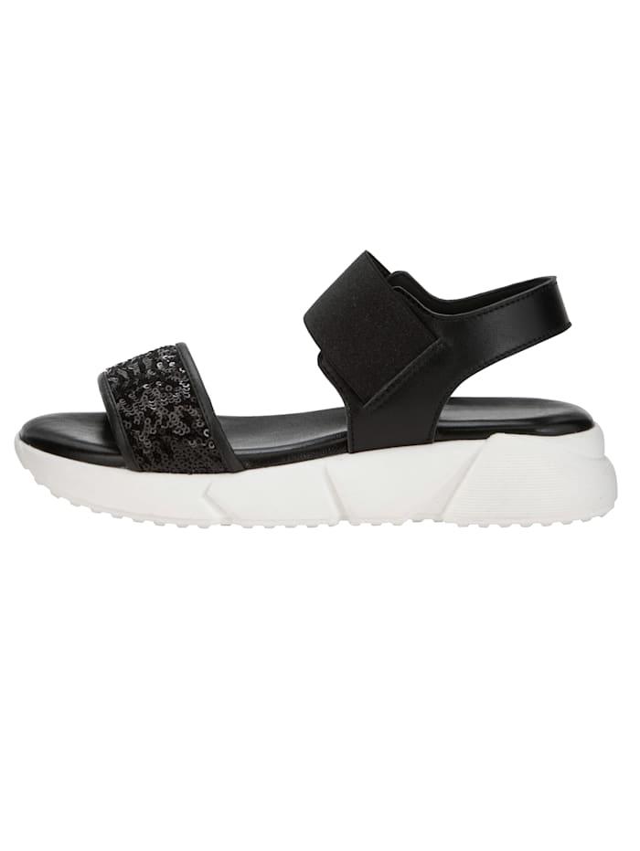 Sandaaltje met paillettenversiering