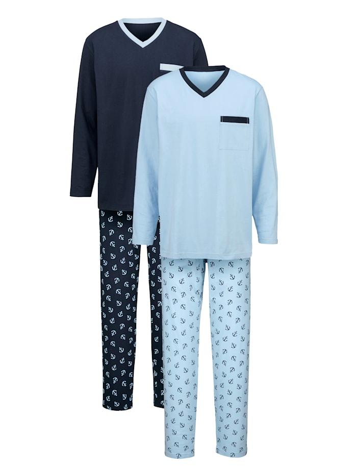 Pyžamy nohavice s potlačou 2 kusy
