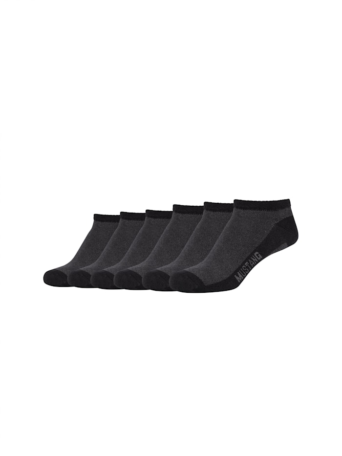 Mustang Sneakersocken 6er-Pack aus hochwertiger Bio-Baumwolle, black