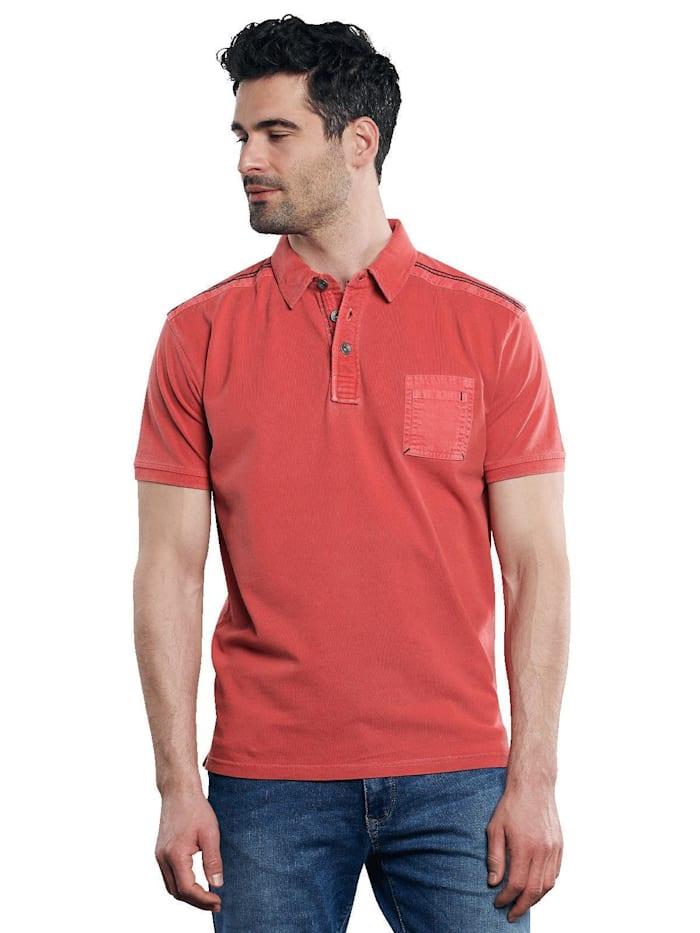 Engbers Poloshirt mit maskulinen Details, Feuerrot