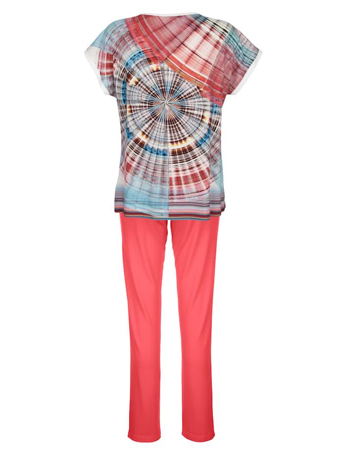 Schlafanzug mit überschnittenen Ärmeln