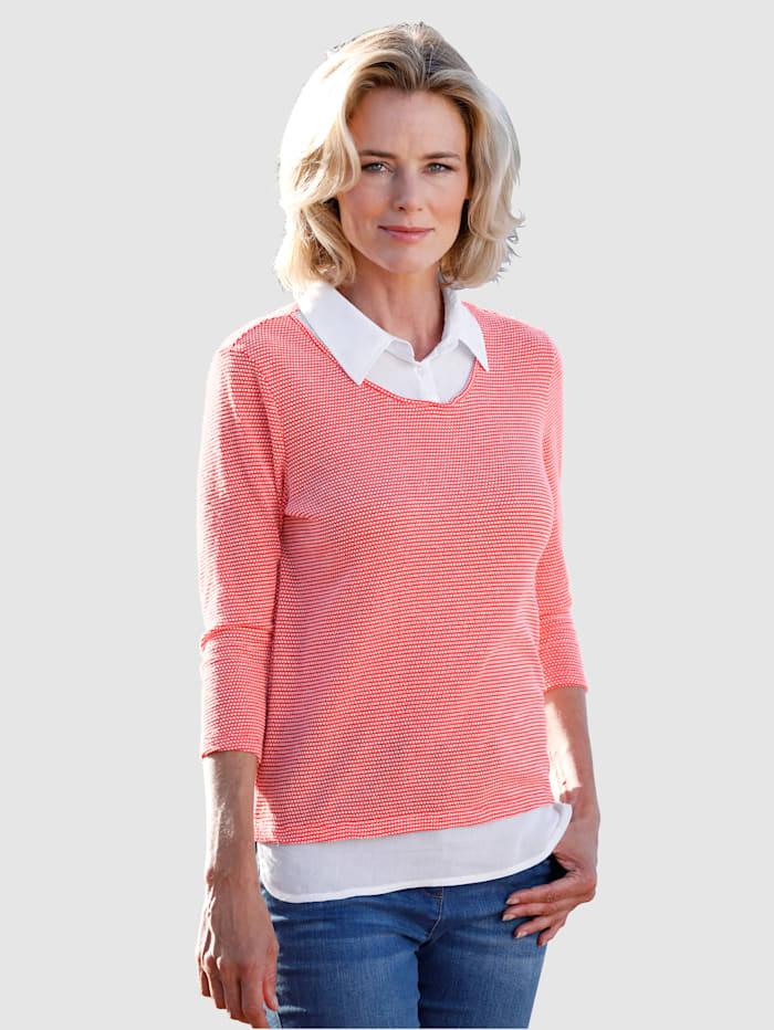 2-in-1-sweatshirt van gestructureerd materiaal