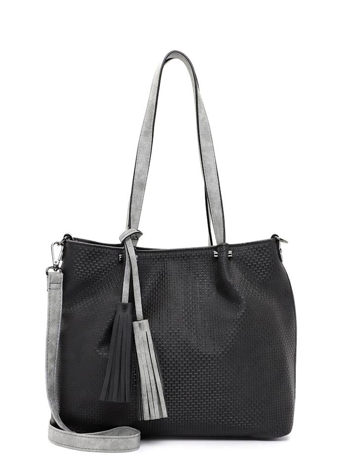 EMILY & NOAH Shopper Bag in Bag Surprise, black grey 108
