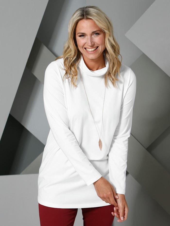 MIAMODA Shirt mit Rollkragen aus Single Jersey, Creme-Weiß