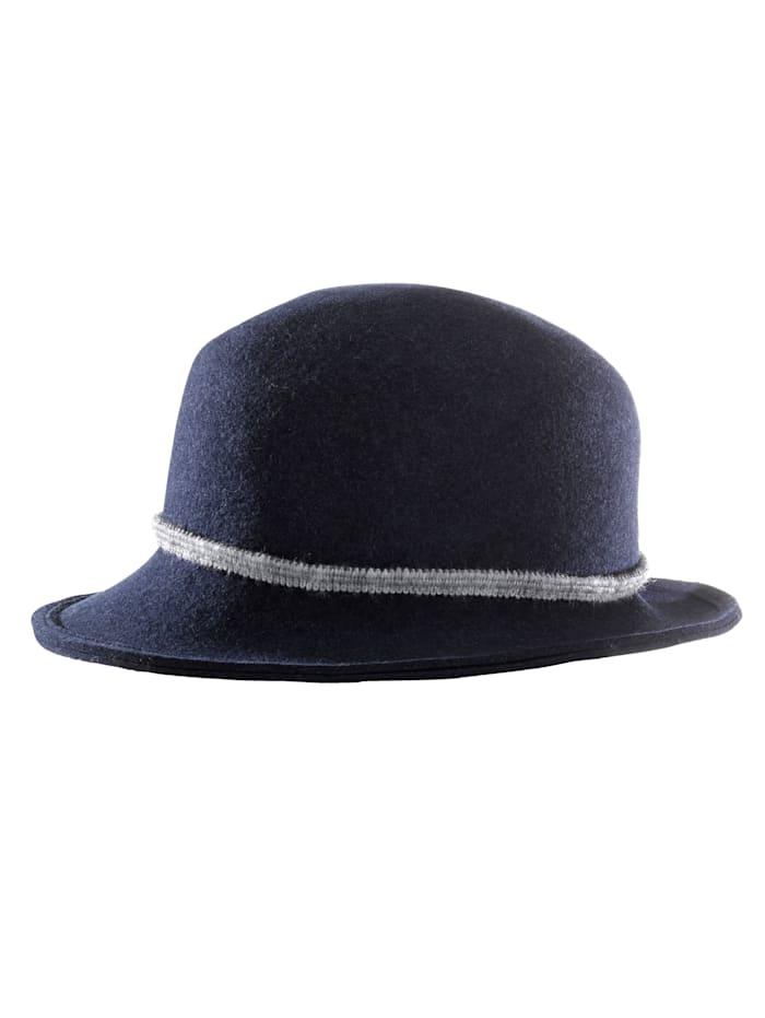 Mayser Dámsky filcový klobúk. Tina, džínsová