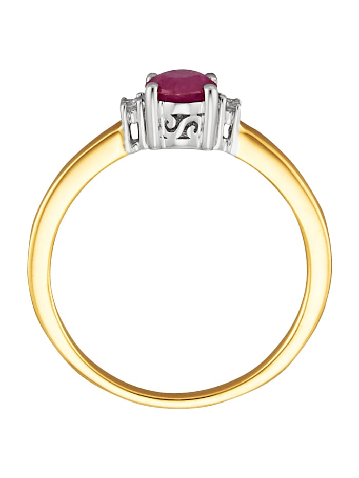 Damenring mit Rubin und Diamanten