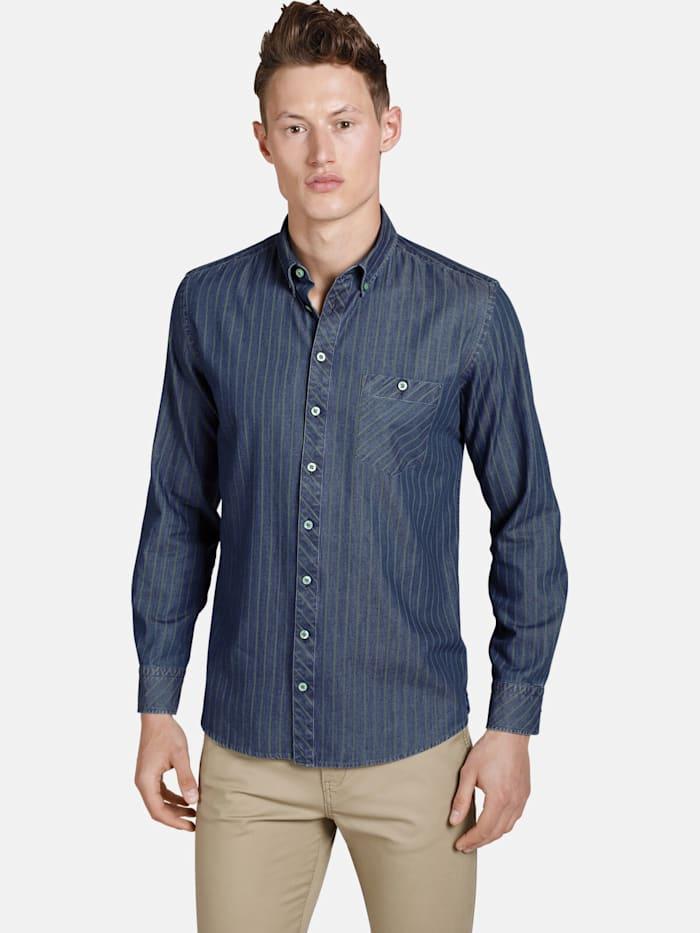Shirtmaster Shirtmaster Hemd greenwaters, blau
