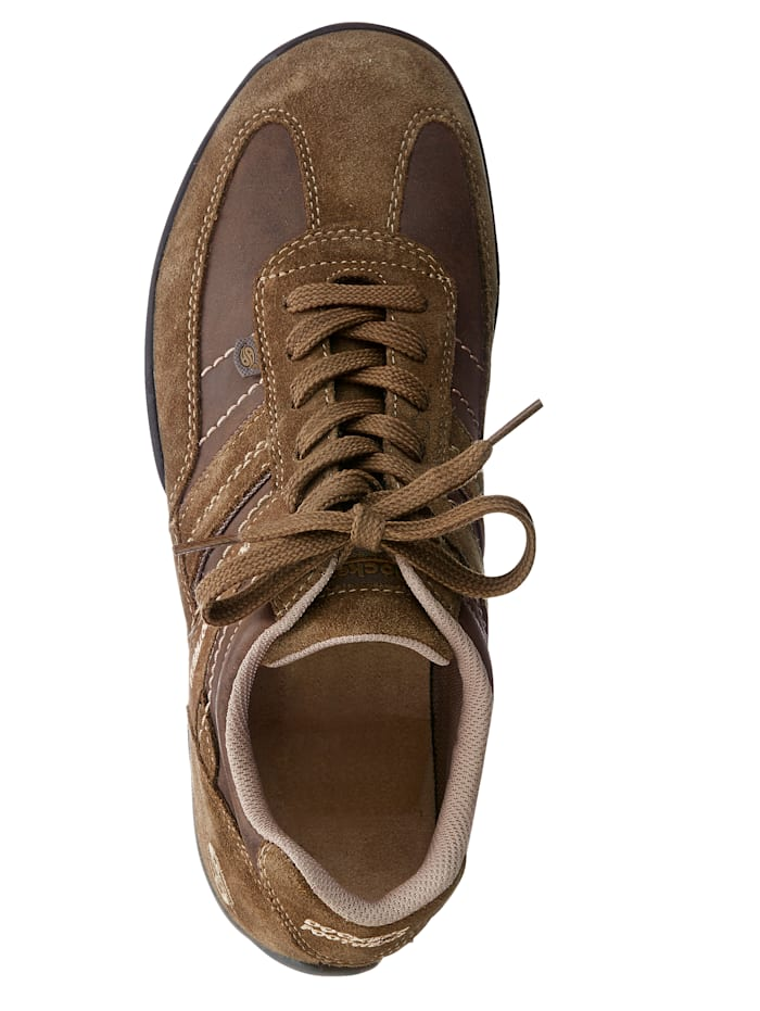 Šněrovací obuv zharmonické kombinace nubukové/velurové kůže