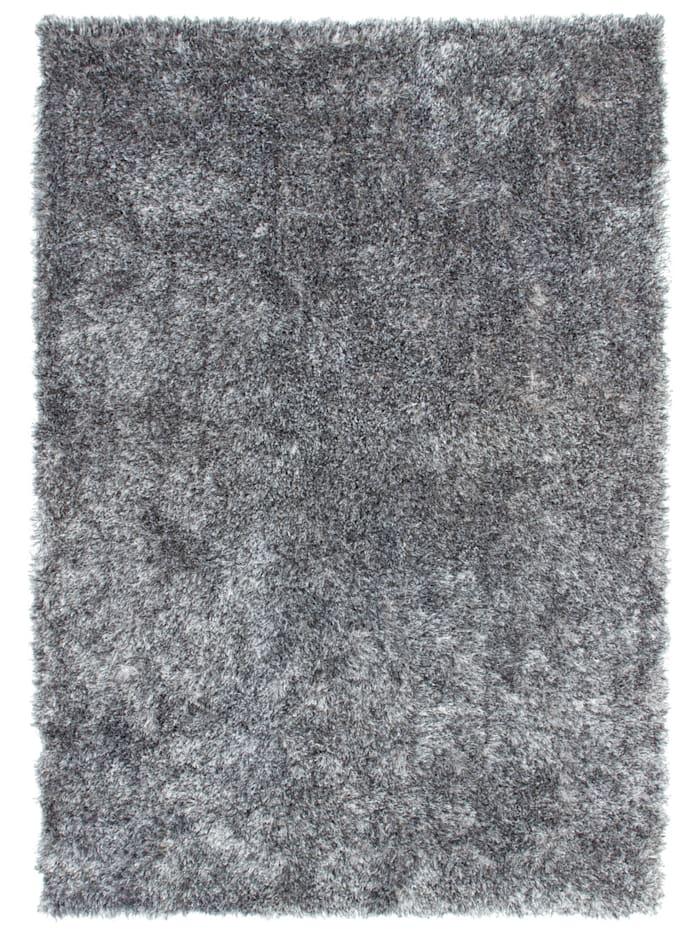 Kayoom Hochflorteppich Folko, grau/weiß