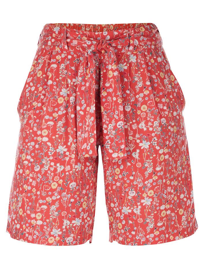 Dress In Short mit sommerlichem Druck, Apricot
