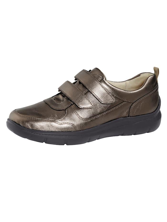 Waldläufer Chaussures basses à scratch avec semelle intérieure pro-active, Coloris bronze