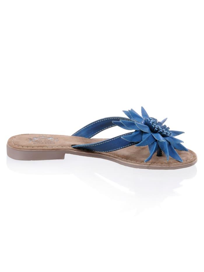 Nu-pieds à application florale