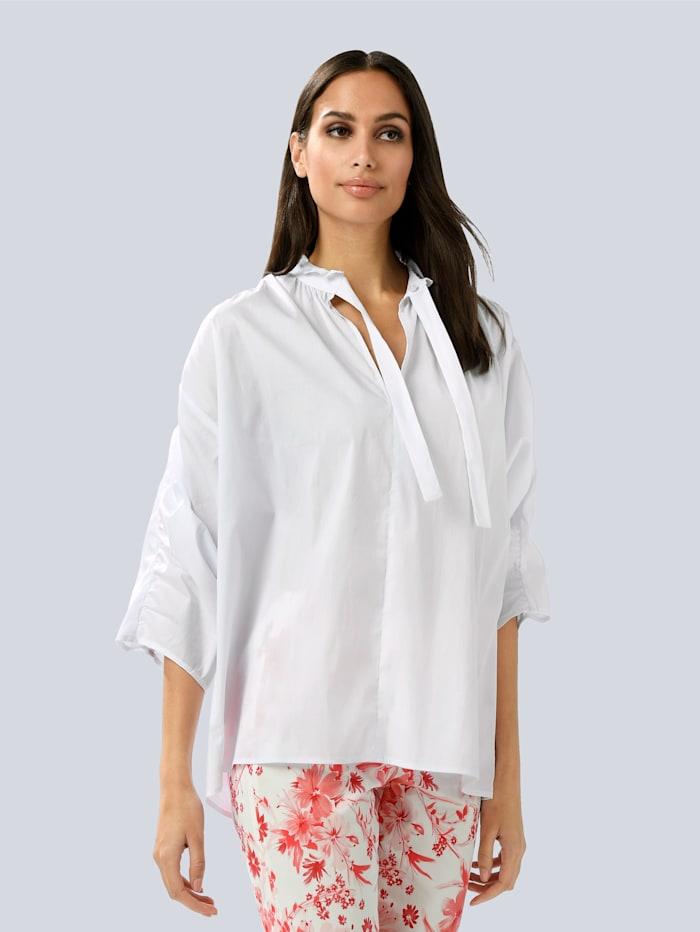 Alba Moda Bluse aus Formstabiler Ware, Weiß