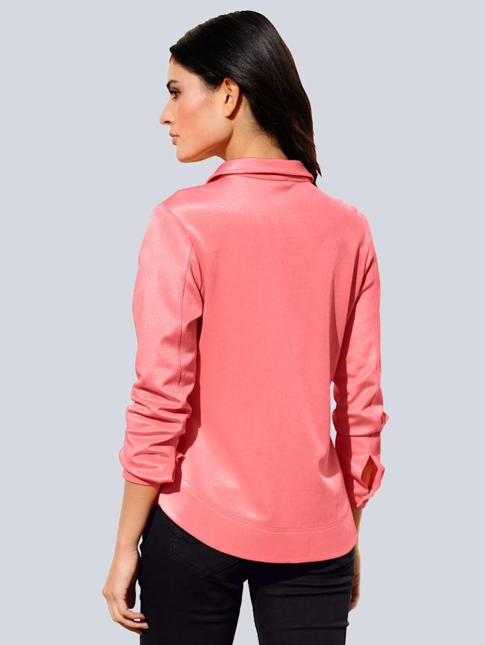 Jersey blouse in een makkelijk te combineren kleur