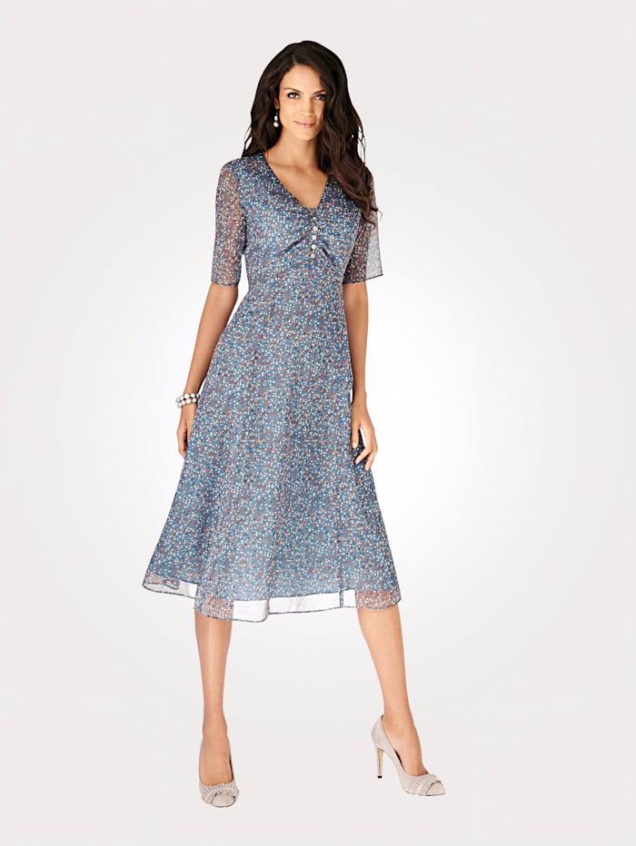 Artigiano Dress in an all over multi-coloured print, Multi