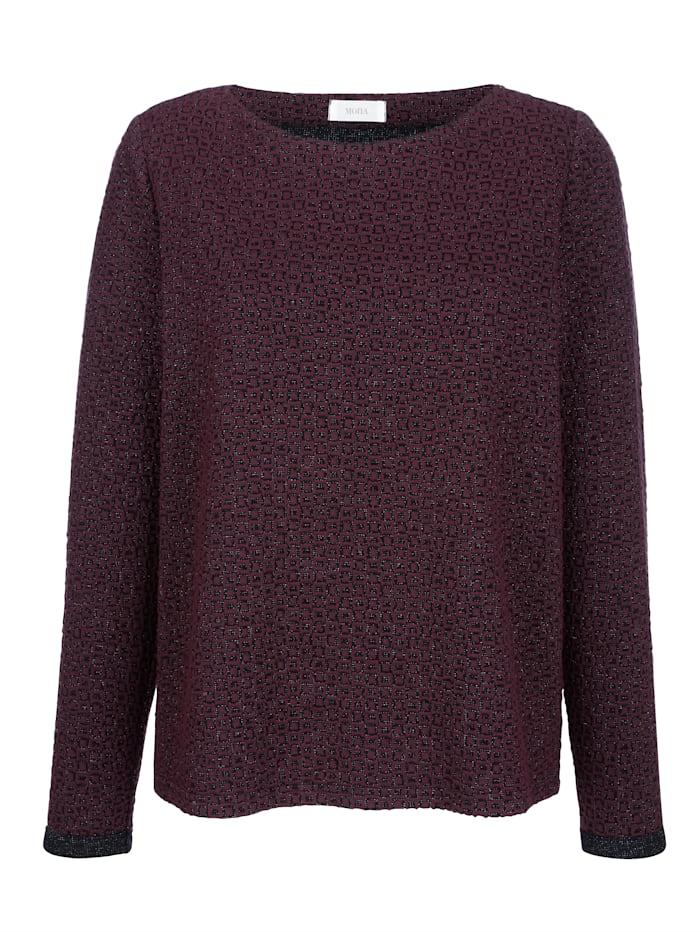 Sweatshirt mit grafischem Jaquard-Muster
