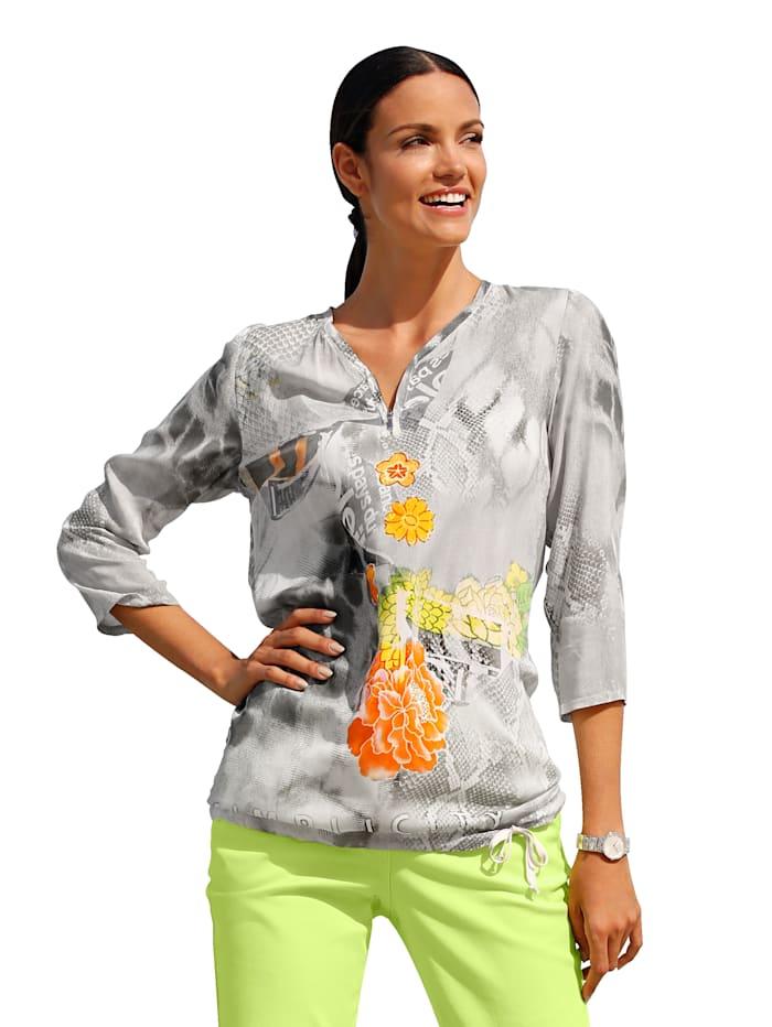 AMY VERMONT Blouse met print rondom, Multicolor