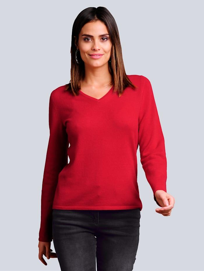 Alba Moda Pullover aus kuschelweichem Kaschmir, Rot