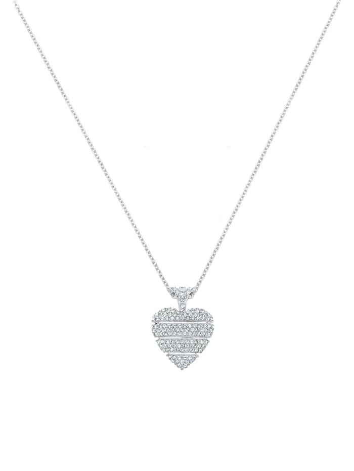 Halskette Herz Liebe Kristalle Lovely 925 Silber