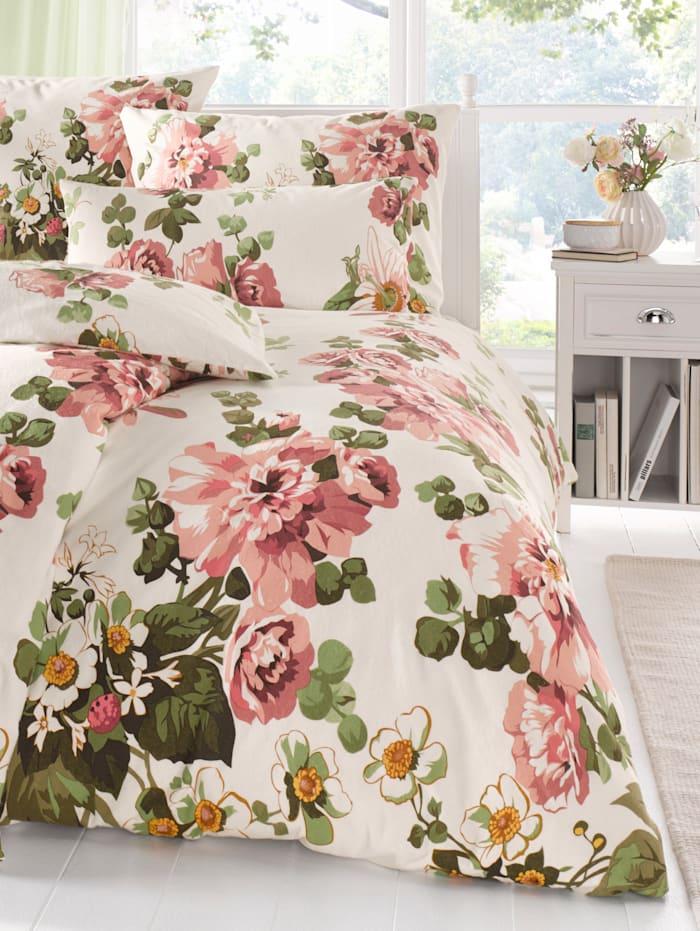 Webschatz Bettwäsche 'Dorothea', natur-rosé