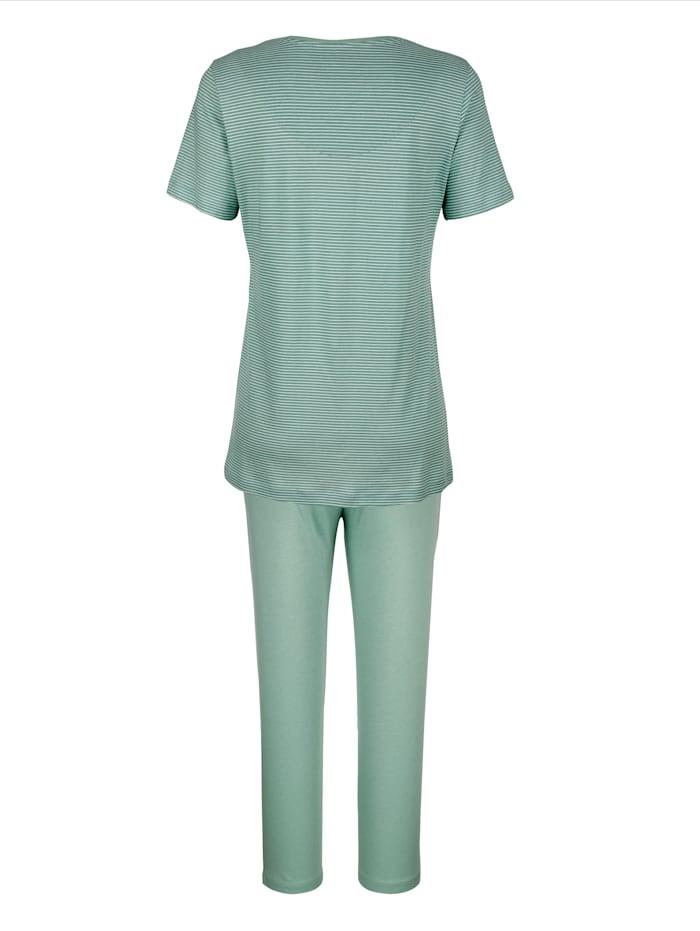 Schlafanzug mit zeitlos geringeltem Oberteil