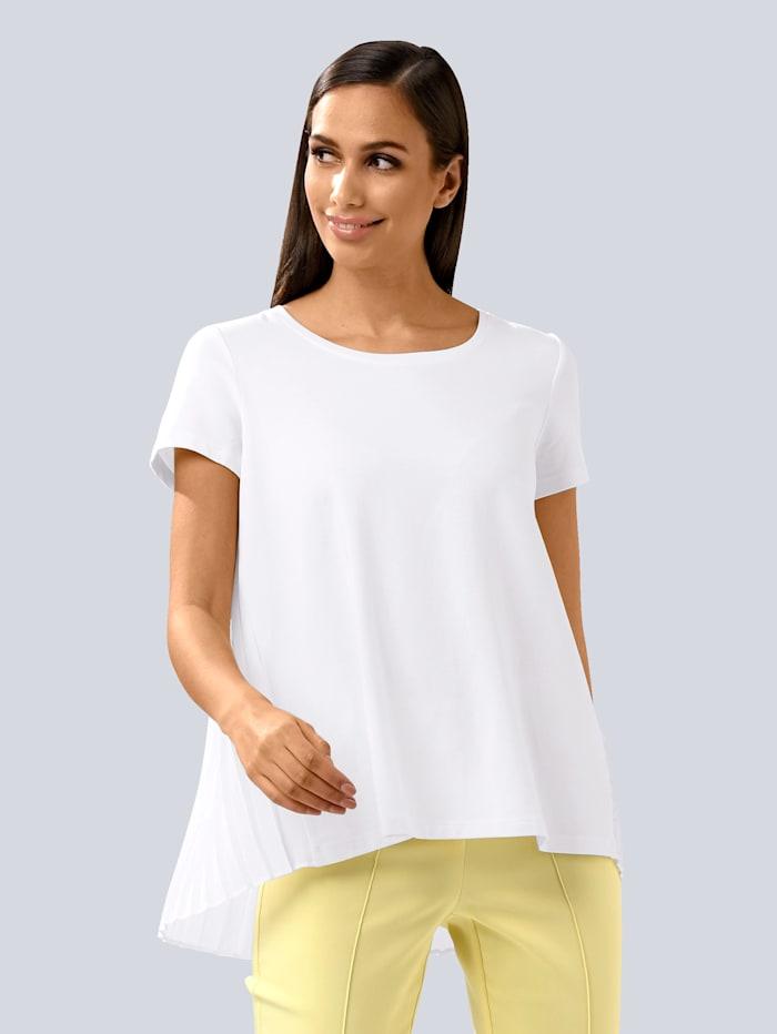 Alba Moda Shirt mit plissiertem Einsatz, Off-white