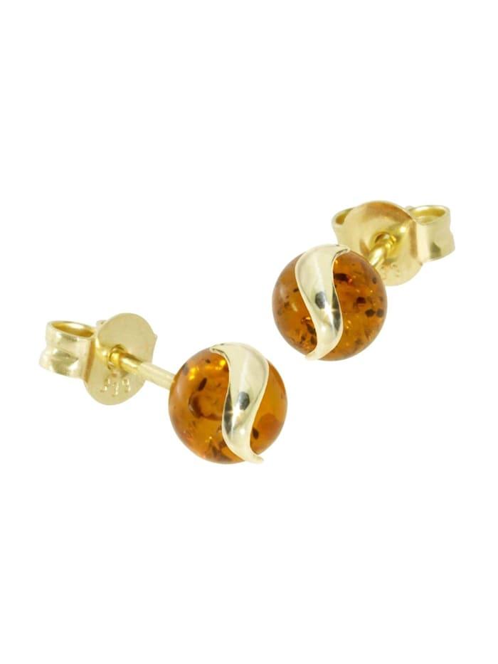 OSTSEE-SCHMUCK Ohrstecker - Stina - Gold 333/000 -, gold