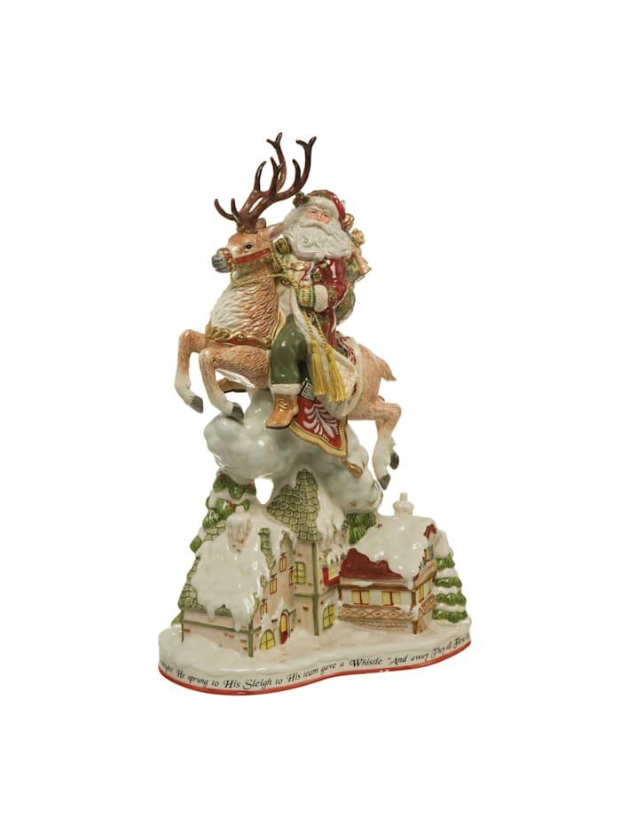 Fitz&Floyd Fitz&Floyd Figur Santa mit Häusern, Bunt