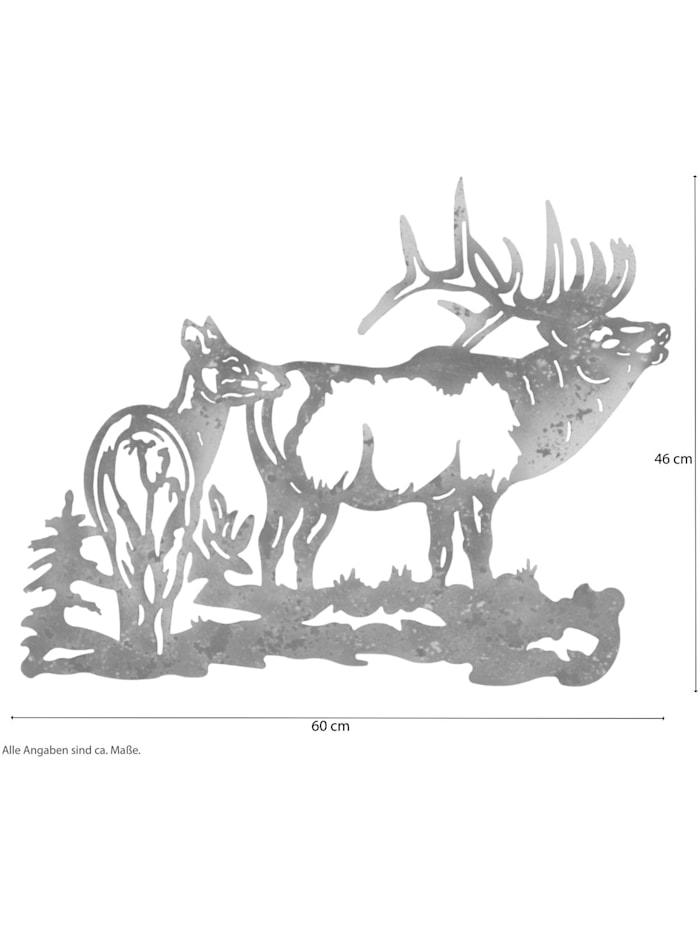 Möbel-Direkt-Online Wanddekoration Hirschkuh und Hirsch, grün/braun/beige