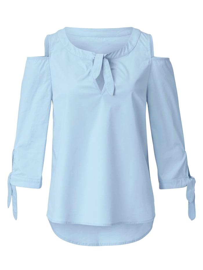 SIENNA Bluse mit modischen Cut-Outs, Hellblau