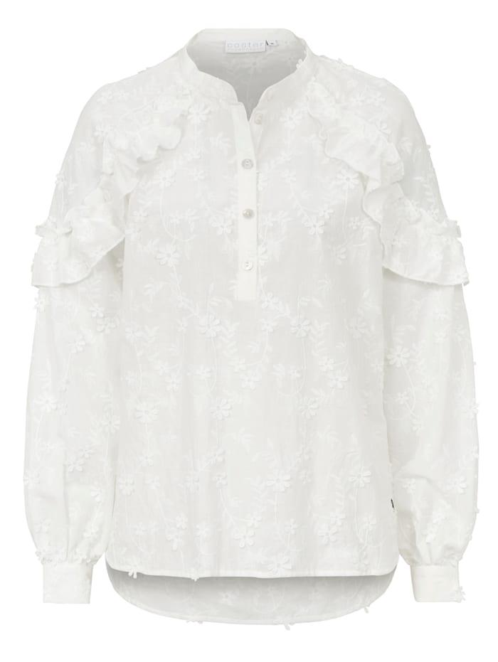 coster copenhagen Rüschenbluse, Off-white