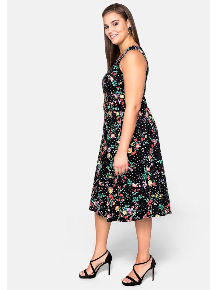 sheego by Joe Browns Kleid aus Baumwollsatin mit Blumendruck
