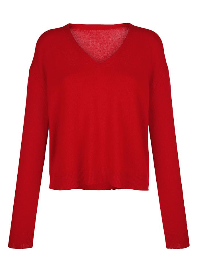 Alba Moda Kaschmirpullover aus kuschelweicher Qualität, Rot