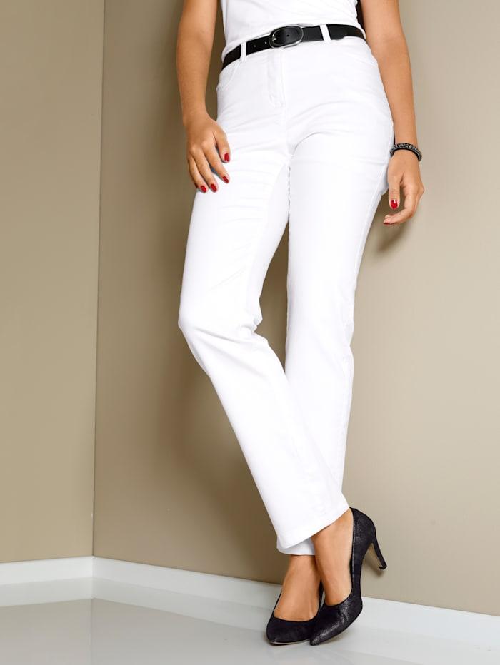 MIAMODA Pantalon à taille extensible, Blanc