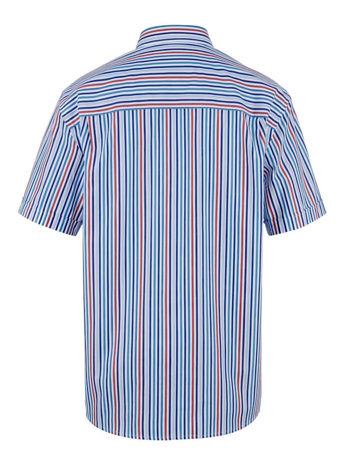 Overhemd met ingebreid streepdessin