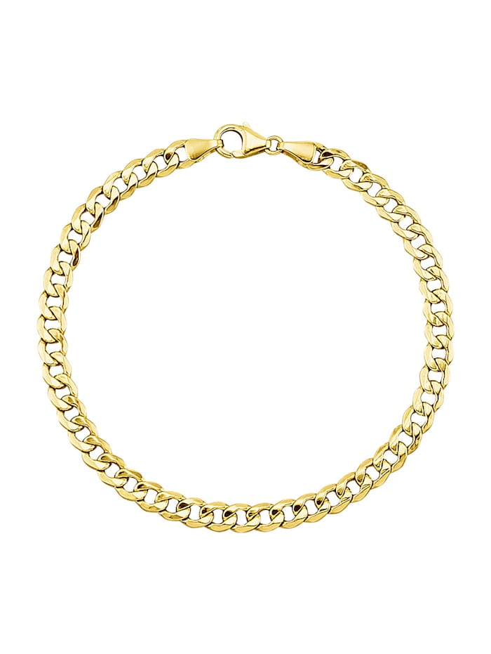 Armband i pansarlänk, Guldfärgad