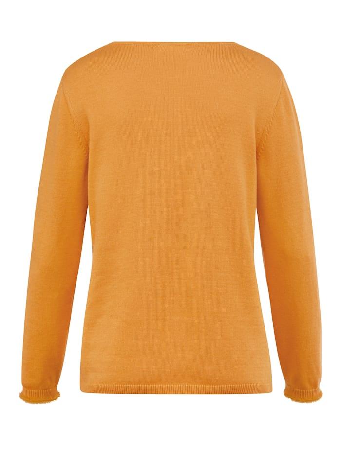 Pullover mit harrigem Garn