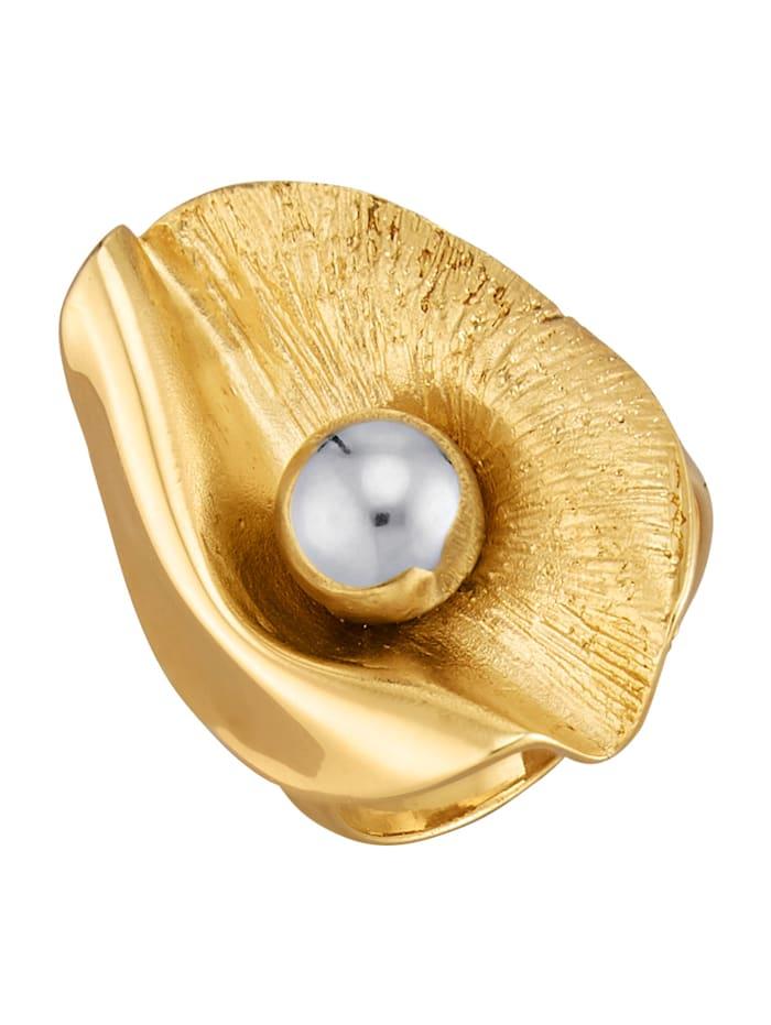 Diemer Trend Damenring in Silber 925, vergoldet, Gelbgoldfarben