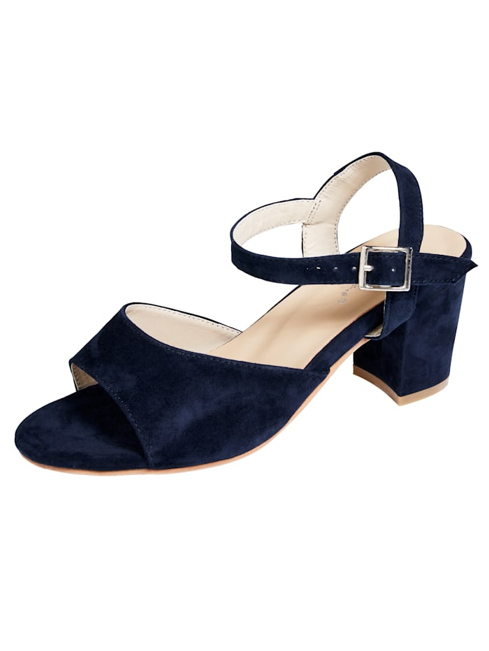Sandale in modischer Optik, Marineblau