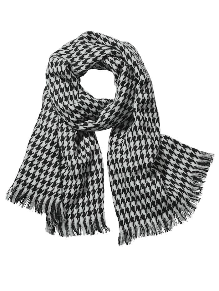 Schal, schwarz-weiß