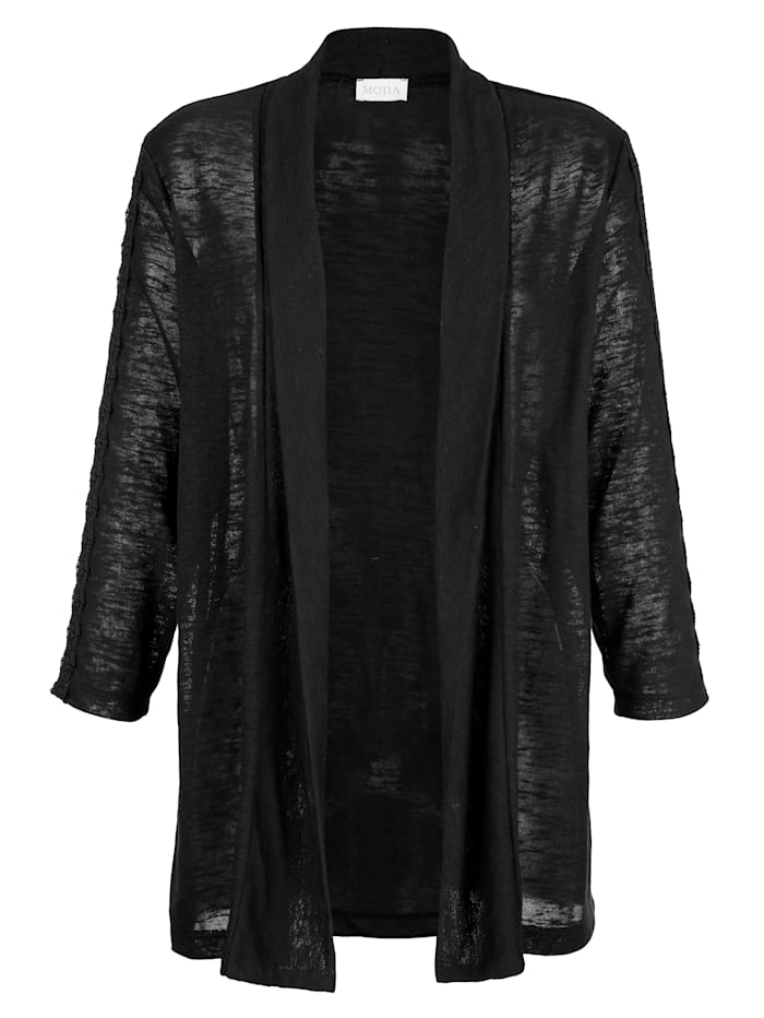 Jacket with lace detailing on the sleeves