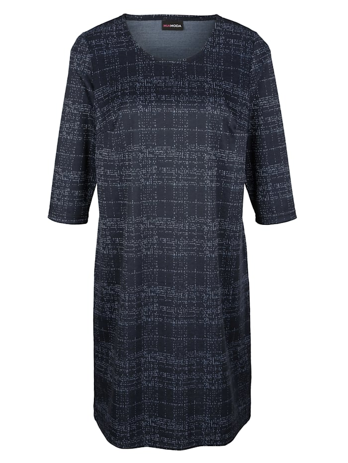 Jerseykleid mit kontrastfarbenem Garn