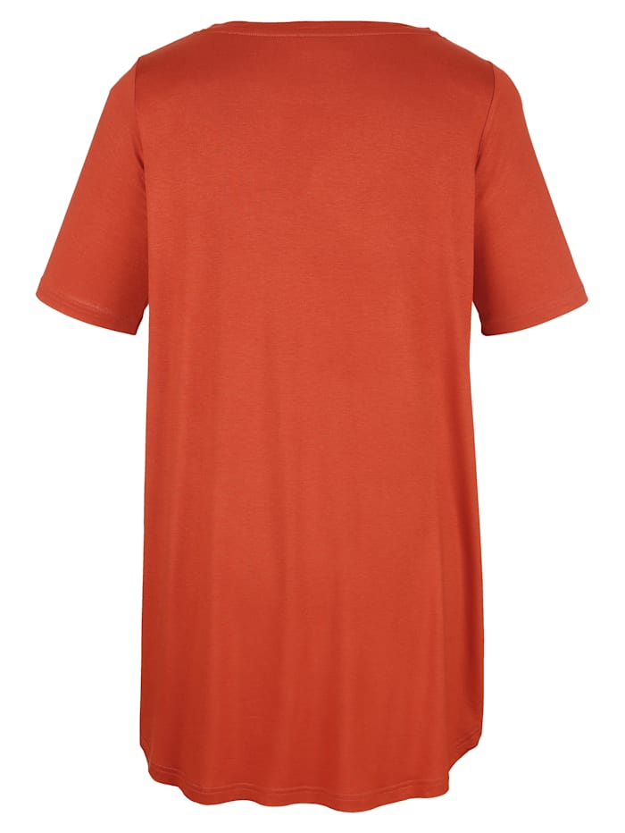 Longshirt met vrouwelijke halslijn