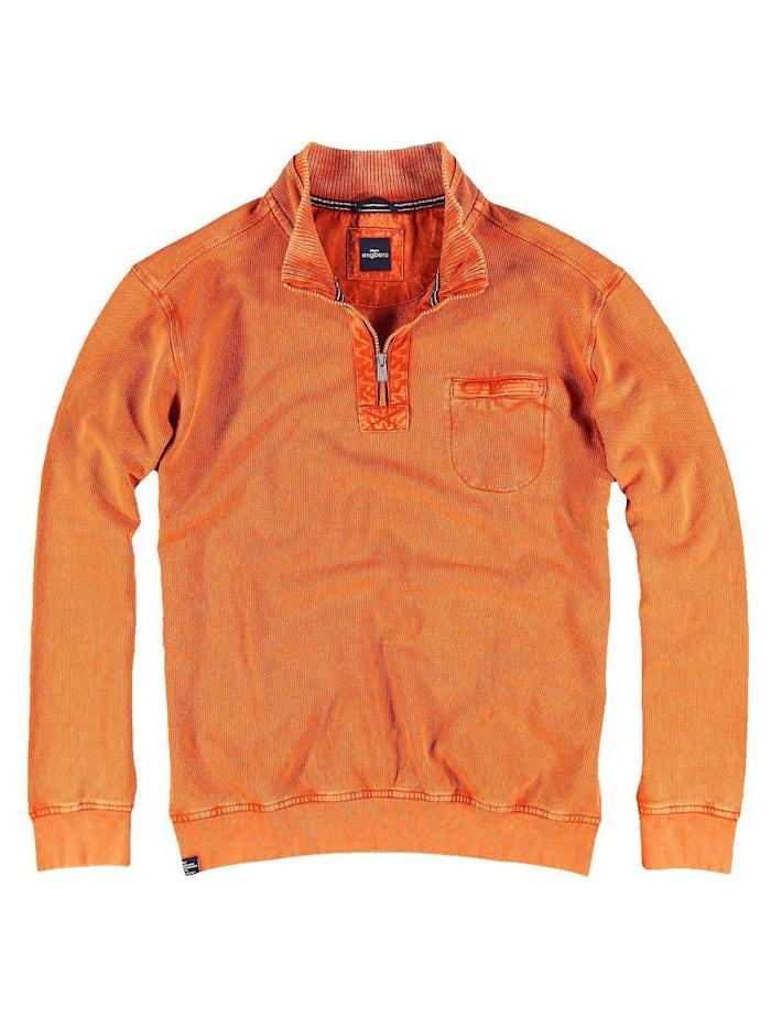 Engbers Sweatshirt Stehbund, Reinorange