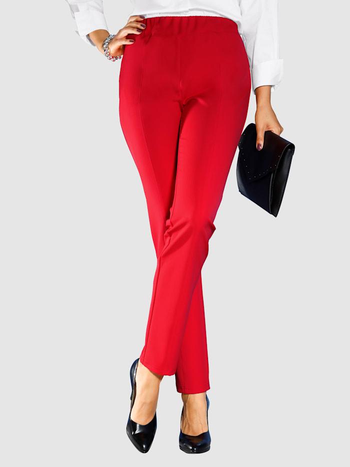 m. collection Hose aus extra stretchigem Material, Rot