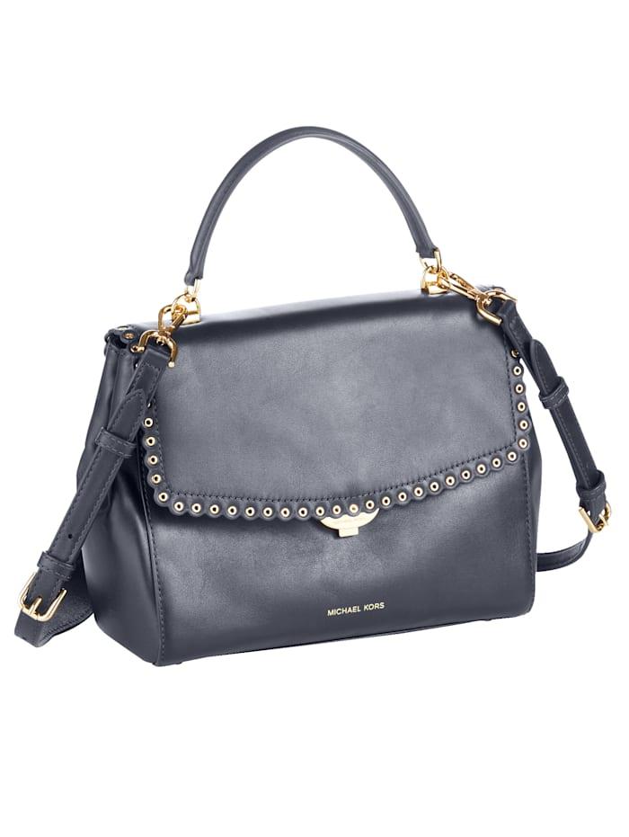 Handtasche mit gewelltem Rand