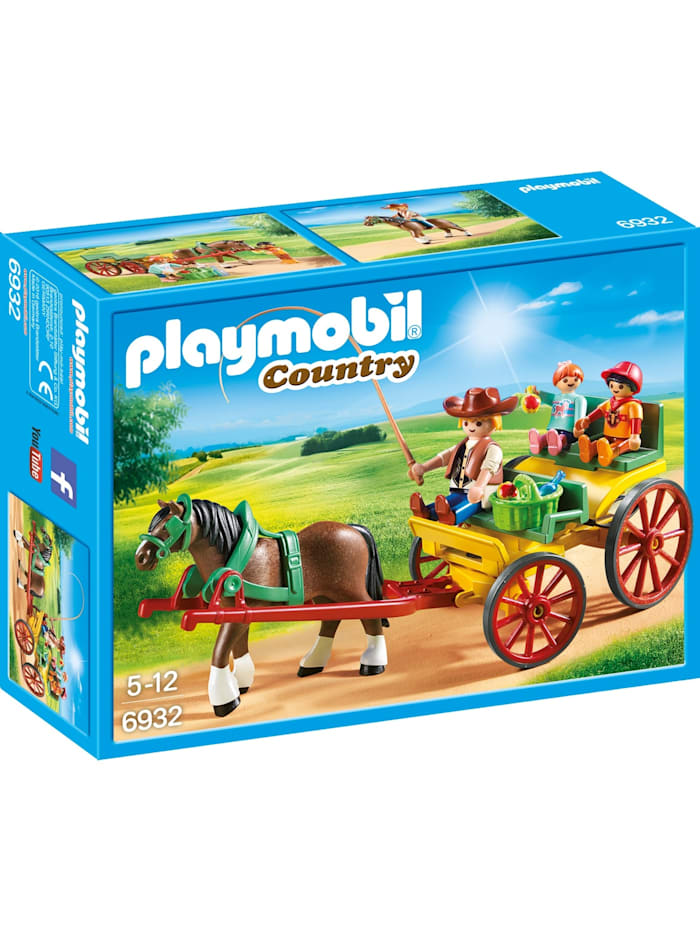 PLAYMOBIL Konstruktionsspielzeug Pferdekutsche, bunt/multi