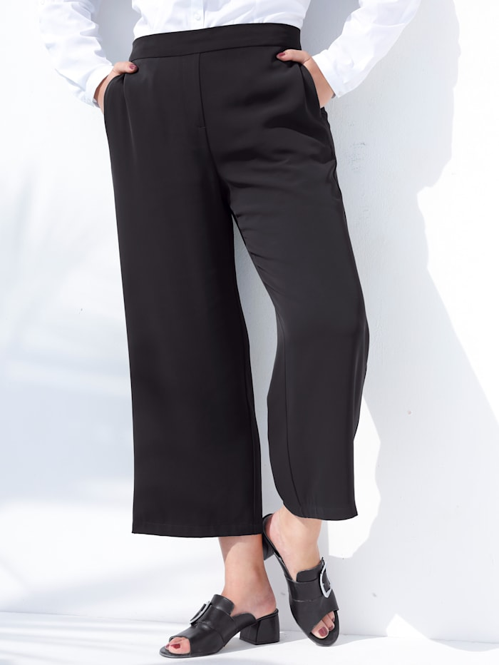 MIAMODA Culotte in trendy kort model, Zwart